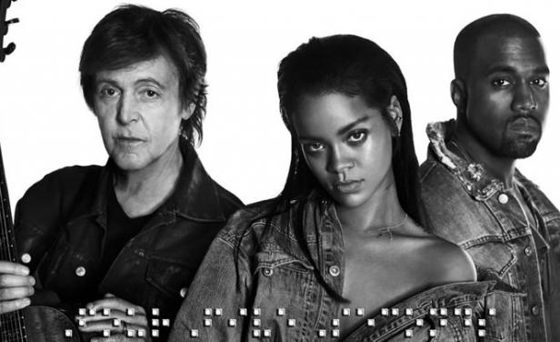 La nueva canci?n de Rihanna, con Paul McCartney y Kanye West